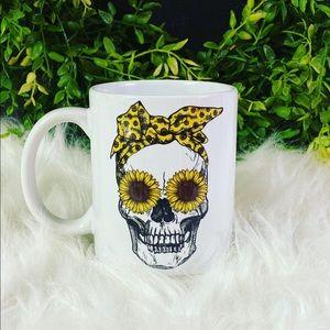 🌻💀🖤 sunflower skull mug